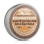 Beurre de karité extra-pur pour le visage et le corps. Soin biologique Oléanat 100 ml