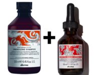 Shampoing et lotion ENERGIZING de Davines pour la chute de cheveux due à la saison.