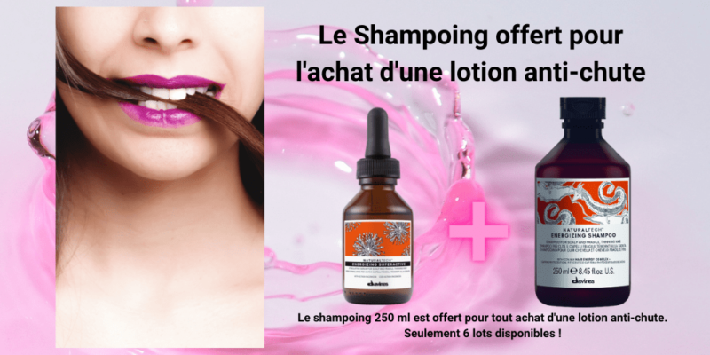 Shampoing Energizing offert pour l'achat d'une lotion n anti-chute