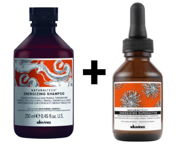 shampoing et superactive energizing de Davines